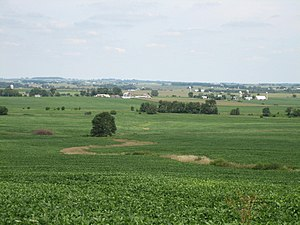 Stephenson County, Illinois - A northerly look across Stephenson County's western edge from an overlook near Kent, Illinois