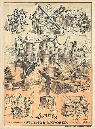 1877 in music - 1877 caricature of Richard Wagner