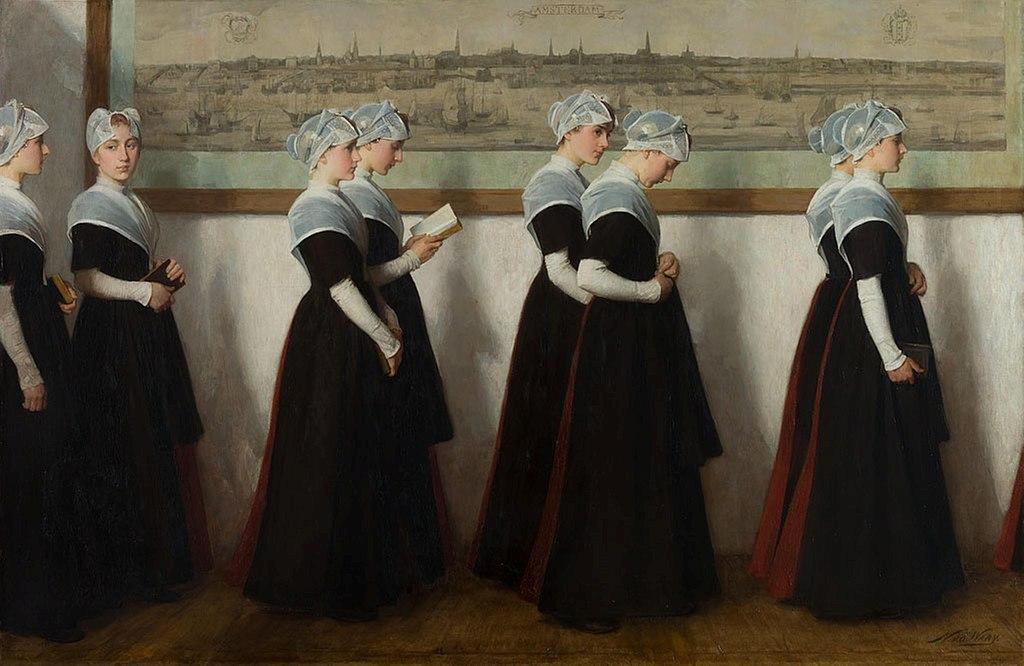 Les orphelines - Toile de van Der Waay au musée d'Amsterdam