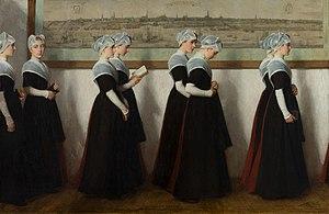 Nicolaas van der Waay - Image: Kerkgang weesmeisjes