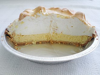 Key lime pie - Image: Keylimepiecut