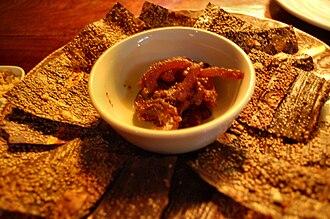 Cladophora - Kháy phen served as an appetizer dish.