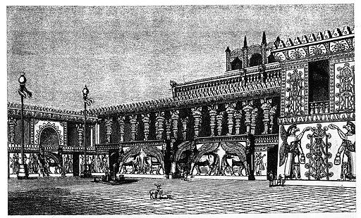 Khorsabad palace courtyard reconstruction