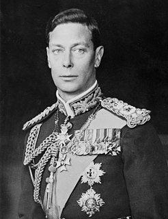 George VI King of the United Kingdom from 1936 to 1952, last Emperor of India to 1947