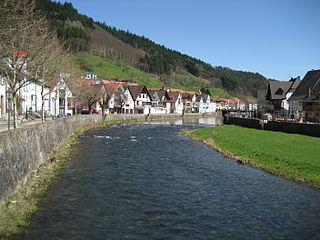 Kinzig (Rhine) River in Germany