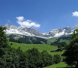 Unterschächen - Klausen Pass from the hamlet of Urigen in Unterschächen