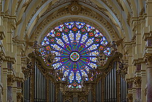 Ebrach Abbey - Rose window from inside