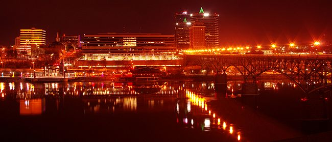 Downtown Knoxville, viewed from the south waterfront Knoxville-south-waterfront-night-tn1.jpg