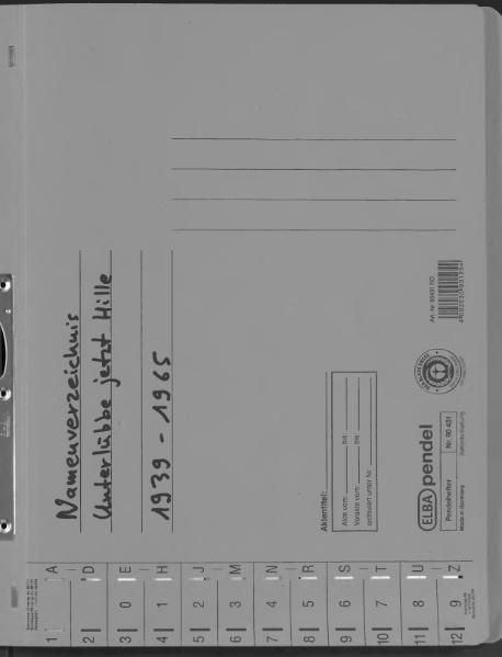 File:Kombiniertes Namensverzeichnis zu den Geburts-, Heirats- und Sterberegistern des Standesamtes Unterlübbe, 1939 bis 1965.djvu