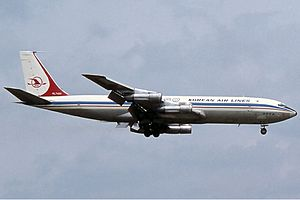 Korean Air Flight 858 - Image: Korean Air Lines Boeing 707 Haafke
