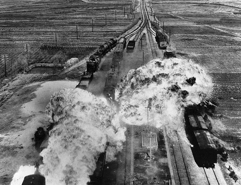 Korean War, train attack.jpg