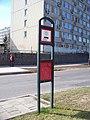 Kralupy nad Vltavou, Gen. Klapálka, zastávka MHD u Chelčického ulice.jpg