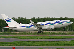 Ил-96 - пассажирский широкофюзеляжный самолёт для авиалиний средней и большой протяжённости, спроектированный в КБ...