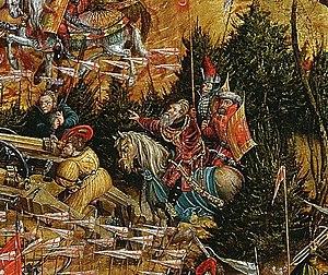 Ostrogski coat of arms - Image: Krell Battle of Orsha (detail) 07