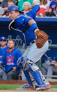 cda67b3ff Schwarber playing for the Iowa Cubs in 2015