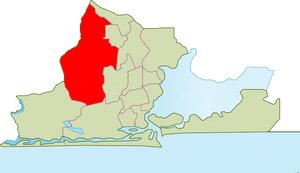 Alimosho - Image: LGA Mapa de Alimosho, Lagos