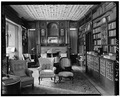 LIBRARY FROM THE EAST - William Watts Sherman House, 2 Shepard Avenue, Newport, Newport County, RI HABS RI,3-NEWP,68-5.tif