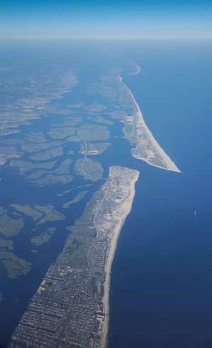 South Shore (Long Island) - Aerial view of the Barrier Islands along South Shore LI (As of August 2016)