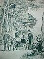 La Reine Victoria arrivant au Plantier chez ses amis les Bouëxic de Guichen, Hyères, 1892.jpg