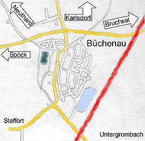 Lageplan Büchenau