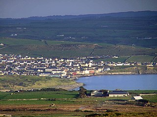 Lahinch Town in Munster, Ireland