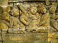 Lalitavistara - 090 W-64, Siddhartha leaves the Palace, the still Sleeping Women (detail 2) (8598279359).jpg