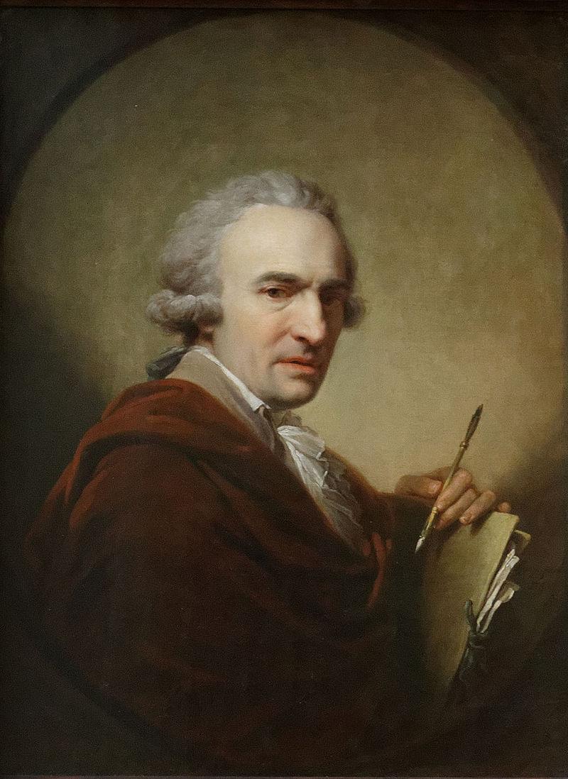 Иоганн Баптист фон Лампи Старший: Портрет архитектора Ла Тур