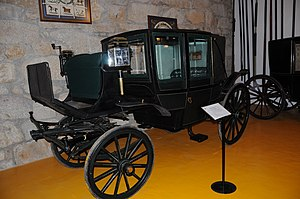 Landau (carriage) - A five-glass landau carriage in Geraz do Lima Carriage museum