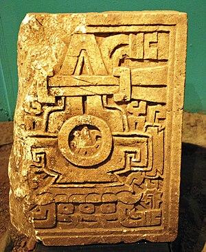 Cerro de las Minas - Tombstone found in Cerro de las Minas.