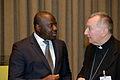 Lassina Zerbo and Pietro Cardinal Parolin at Seventh Ministerial Meeting on the Comprehensive Nuclear-Test-Ban Treaty (CTBT).jpg