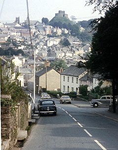 Launceston from Saint Stephens Hill 1973 - geograph.org.uk - 62801