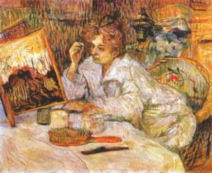 An 1889 Henri de Toulouse-Lautrec painting of ...