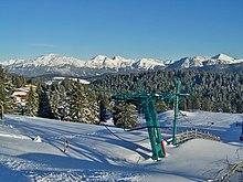 Vue d'un domaine skiable