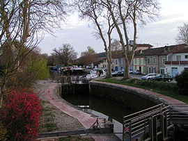 "Gardouch lock on the ""Canal du Midi"""