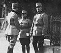 Le prince Carol, le général Iliesco, et le colonel Anghelesco (colonel) - Médiathèque de l'architecture et du patrimoine - AP62T099781.jpg