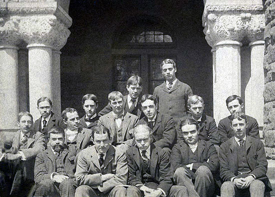 Harvard Law School students circa 1895 Learned Hand at Harvarda.jpg