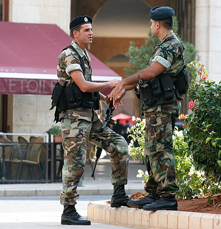 Soldiers of the Lebanese army, 2009 Lebanese Armed Forces.jpg