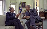 Lee C. White and President Lyndon Johnson.jpg