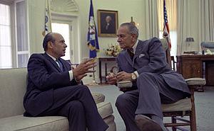 Lee C. White - Image: Lee C. White and President Lyndon Johnson