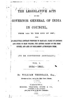 Legislative Acts of the Governor General of India in Council, 1834-1851.djvu