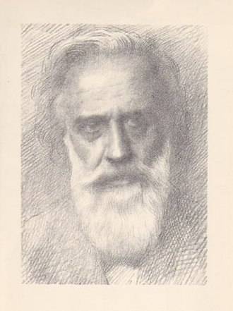 Alphonse Legros - Self-portrait etching by Alphonse Legros