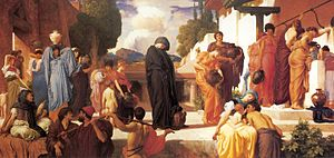 Andromache - Andromache in Captivity by Frederic Leighton (ca. 1886)