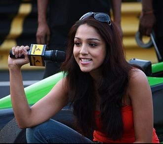 Lekha Washington - Lekha Washington at the JK Tyre National Racing Championship in 2008