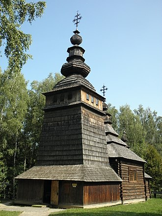 Olga of Kiev - The Lemko church of Saints Vladimir and Olga, now located at the Museum of National Folk Architecture and Rural Life in Lviv