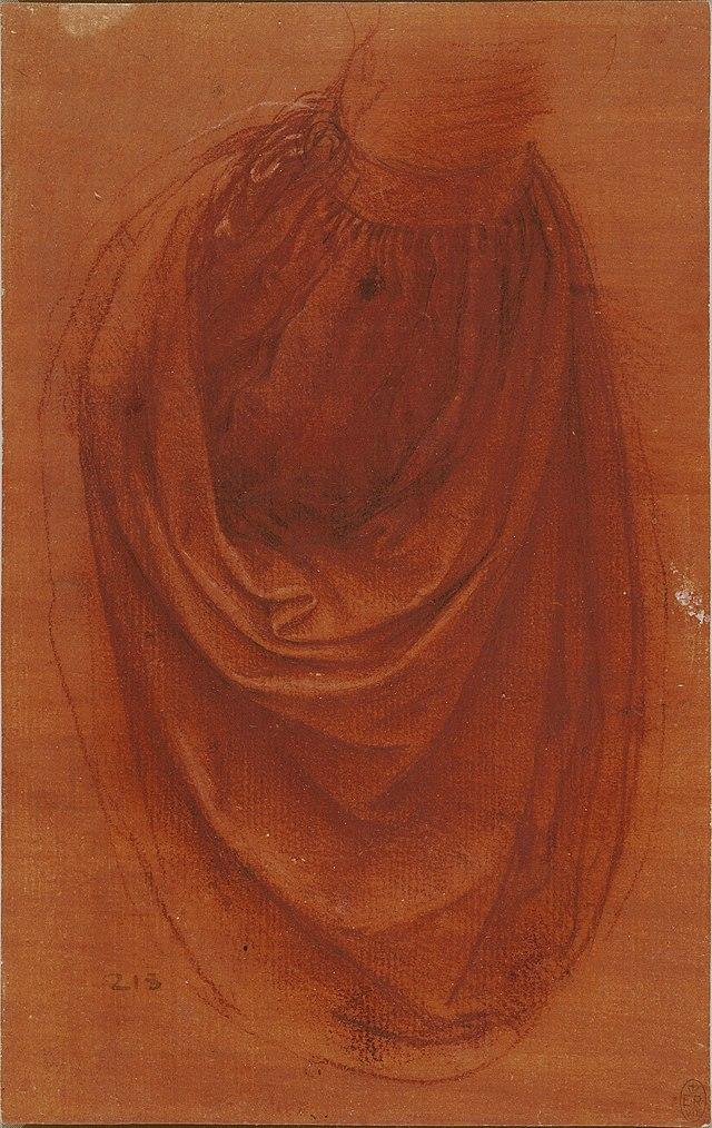 Leonardo'nun Salvator Mundi için yaptığı iki perdelik çalışması - Royal Collection tarafından saklanıyor.