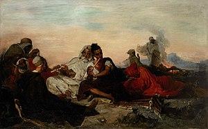 Gustave Achille Guillaumet - Les Joueurs de Flûte au Bivouac, Algérie 1866