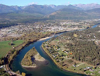 Kootenay River - The Kootenay (Kootenai) River at Libby, Montana