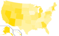 Libertarian Party presidential election results, 1996 (United States of America).png