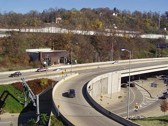 Liberty Tunnel - Liberty Tunnels south end in 2004