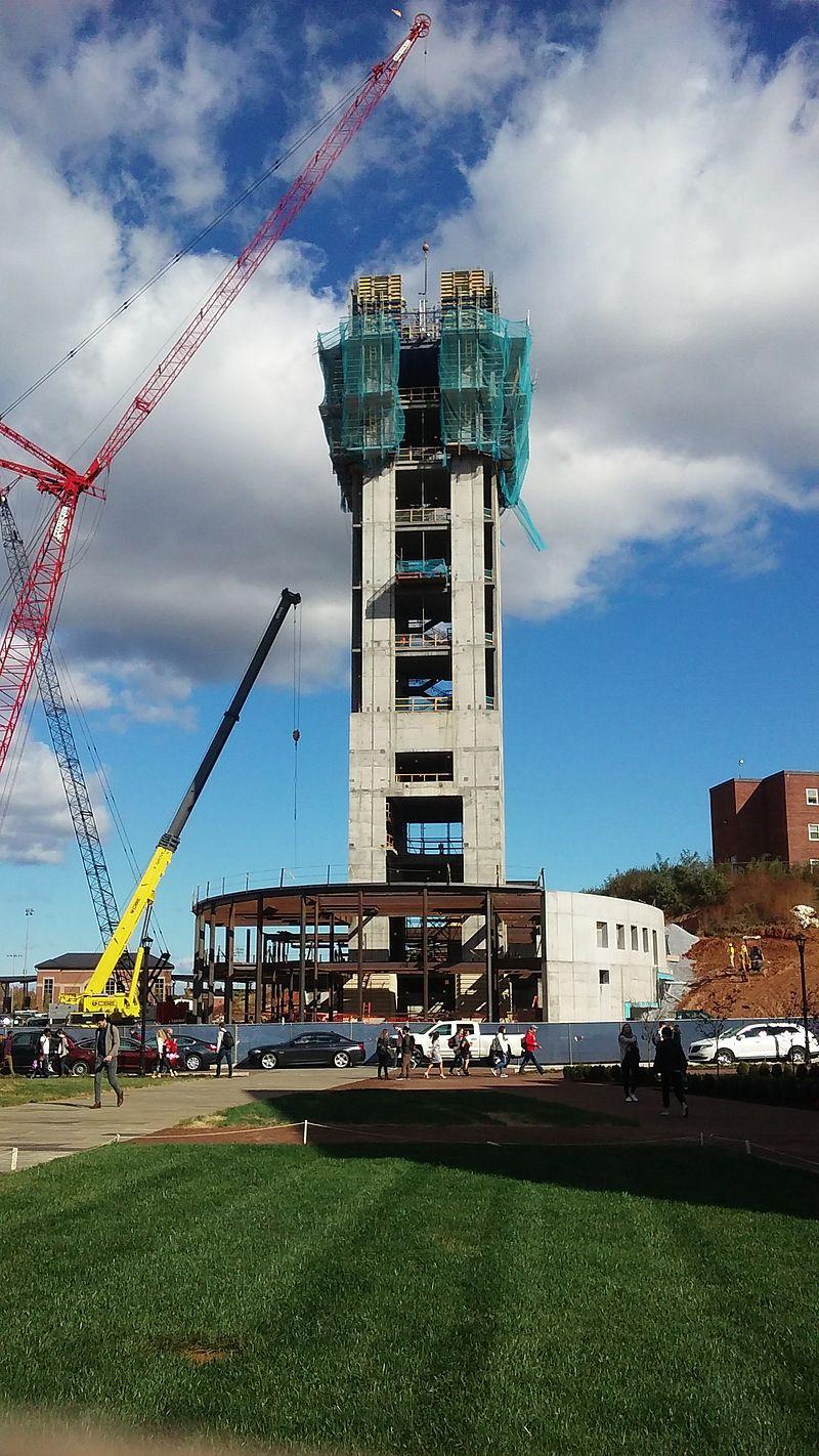 Liberty U Freedom Tower construction.jpg